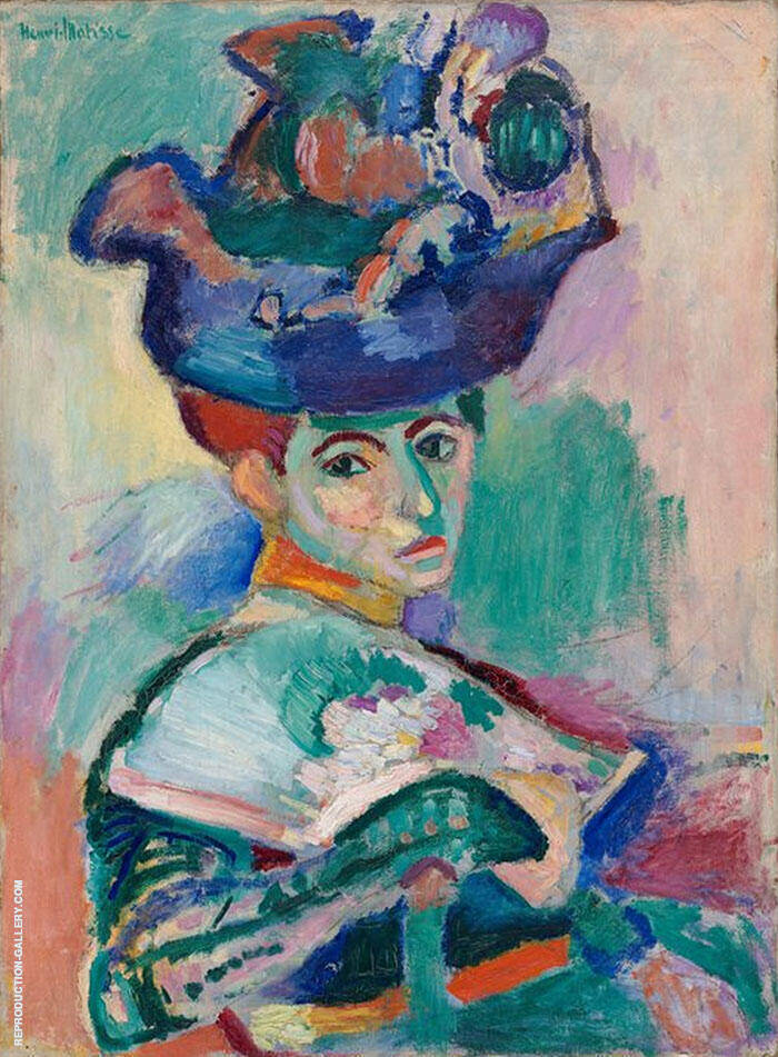 The Woman with a Hat 1905 Painting By Henri Matisse - Reproduction Gallery