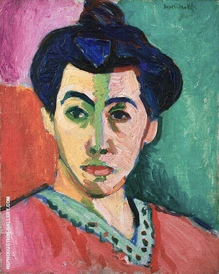 Portrait of Mme Matisse The Green Line 1905 By Henri Matisse - Oil Paintings & Art Reproductions - Reproduction Gallery