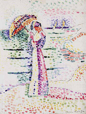 Figure with Parasol 1905 By Henri Matisse
