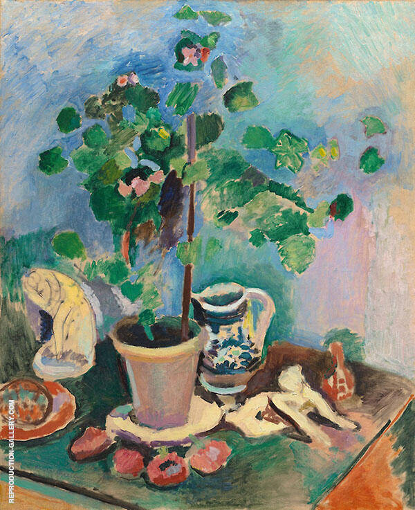 Still Life with a Geranium 1906 Painting By Henri Matisse