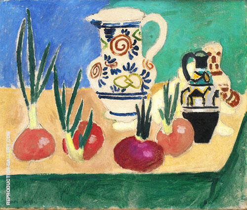 Reproduction of Pink Onions 1906 by Henri Matisse | Oil Painting Replica On CanvasReproduction Gallery