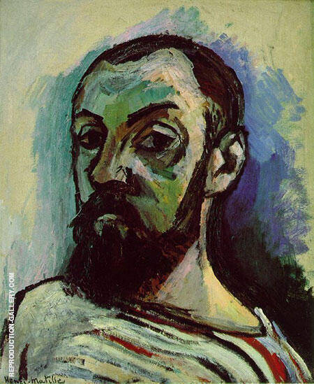 Self Portrait 1906 By Henri Matisse - Oil Paintings & Art Reproductions - Reproduction Gallery