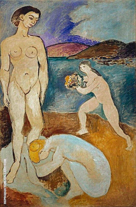 Le Luxe I 1907 Painting By Henri Matisse - Reproduction Gallery