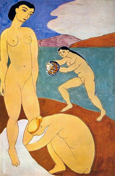 Le Luxe II 1907 Painting By Henri Matisse - Reproduction Gallery