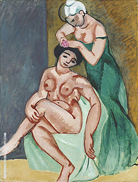Reproduction of La Coiffure 1907 by Henri Matisse | Oil Painting Replica On CanvasReproduction Gallery