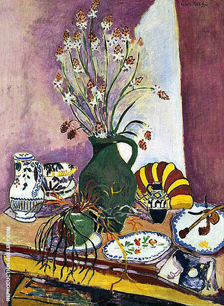 Still Life with Asphodels 1907 By Henri Matisse - Oil Paintings & Art Reproductions - Reproduction Gallery