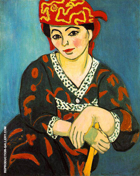Reproduction of The Red Madras Headdress 1907 by Henri Matisse | Oil Painting Replica On CanvasReproduction Gallery