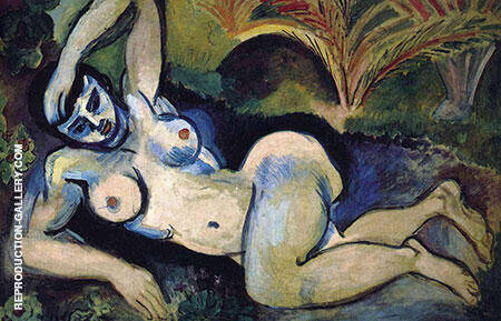 Blue Nude Memory of Biskra 1907 Painting By Henri Matisse