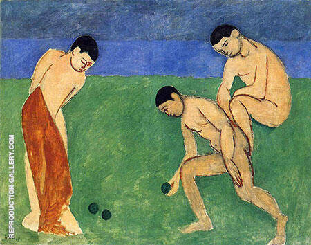 Game of Bowls 1908 By Henri Matisse Replica Paintings on Canvas - Reproduction Gallery