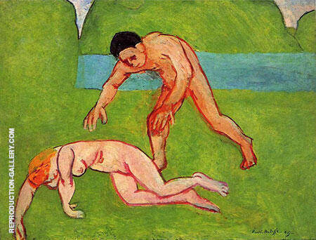 Nymph and Satyr 1908 By Henri Matisse