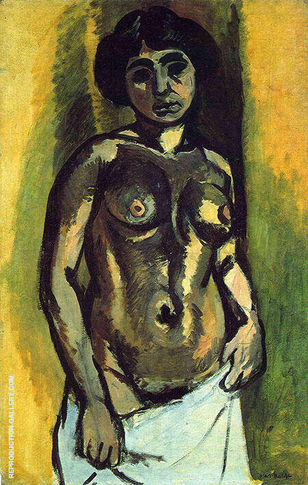 Nude Black and Gold 1908 By Henri Matisse - Oil Paintings & Art Reproductions - Reproduction Gallery
