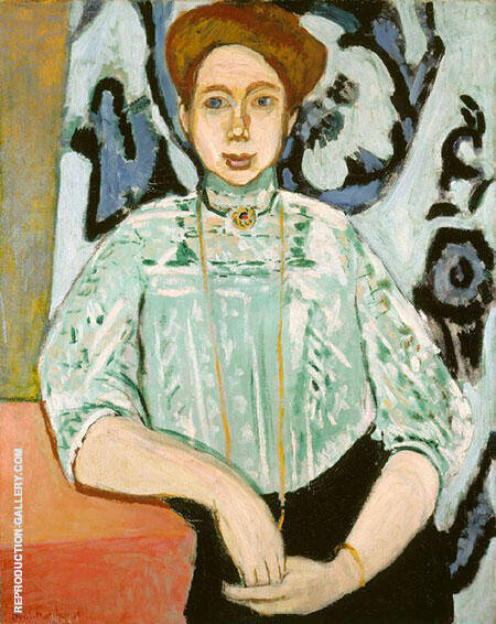 Portrait of Greta Moll 1908 By Henri Matisse - Oil Paintings & Art Reproductions - Reproduction Gallery