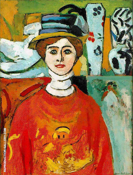 The Girl with Green Eyes 1908 By Henri Matisse - Oil Paintings & Art Reproductions - Reproduction Gallery