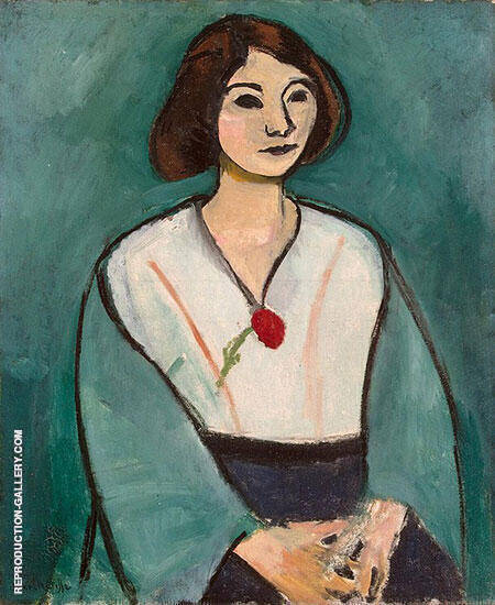 Reproduction of Lady in Green 1909 by Henri Matisse | Oil Painting Replica On CanvasReproduction Gallery