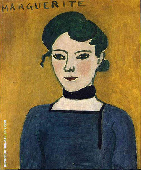 Marguerite 1907 Painting By Henri Matisse - Reproduction Gallery