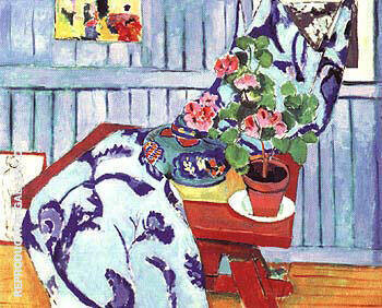 Still Life with a Geranium 1910 By Henri Matisse - Oil Paintings & Art Reproductions - Reproduction Gallery