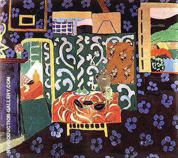 Interior with Aubergines 1911 By Henri Matisse - Oil Paintings & Art Reproductions - Reproduction Gallery