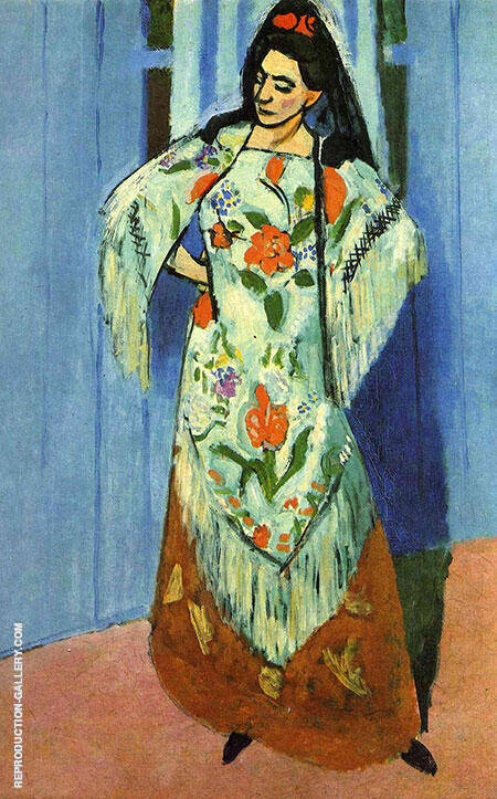 The Manila Shawl 1911 By Henri Matisse Replica Paintings on Canvas - Reproduction Gallery