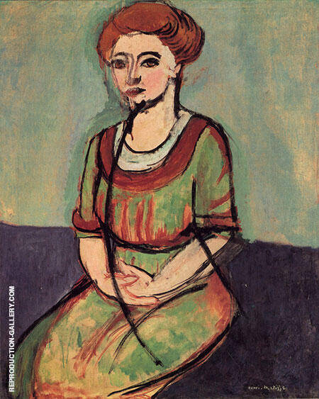 Portrait of Olga Merson 1911 By Henri Matisse - Oil Paintings & Art Reproductions - Reproduction Gallery