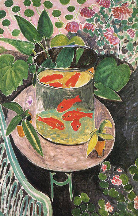 Goldfish 1912 1 By Henri Matisse - Oil Paintings & Art Reproductions - Reproduction Gallery