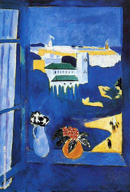 Landscape Viewed from a Window 1912 By Henri Matisse Replica Paintings on Canvas - Reproduction Gallery