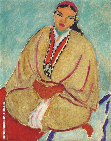 The Yellow Robe Zorah 1912 Painting By Henri Matisse