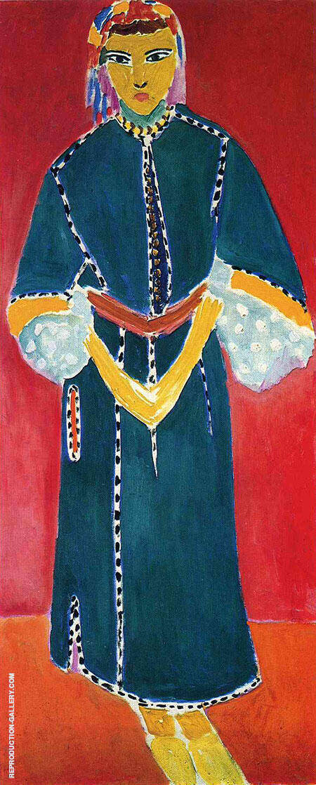 Reproduction of Zorah Standing 1912 by Henri Matisse | Oil Painting Replica On CanvasReproduction Gallery