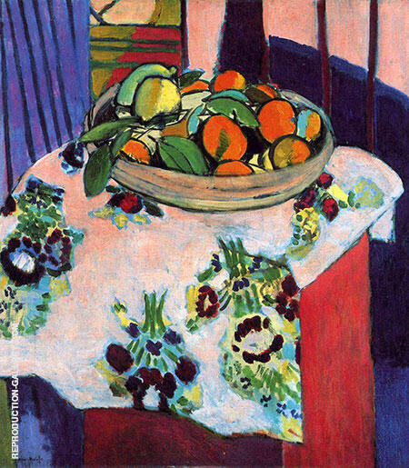 Basket of Oranges 1912 By Henri Matisse - Oil Paintings & Art Reproductions - Reproduction Gallery