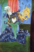 Calla Lilies Irises and Mimosas 1913 By Henri Matisse