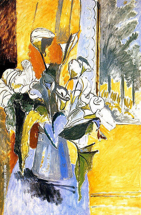 Bouquet of Flowers on a Veranda 1912 By Henri Matisse