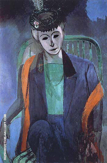 Portrait of Mme Matisse 1913 By Henri Matisse - Oil Paintings & Art Reproductions - Reproduction Gallery