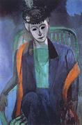 Portrait of Mme Matisse 1913 By Henri Matisse