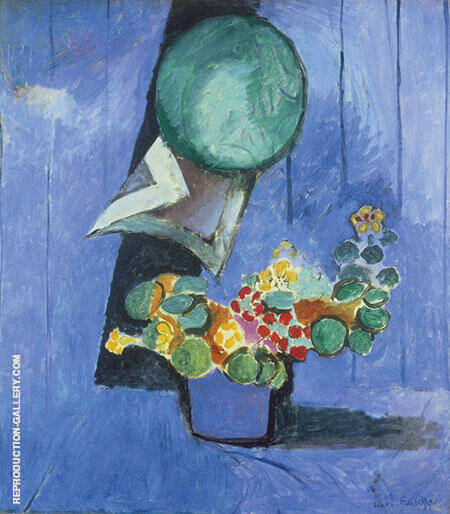 Flowers and Ceramic Plate 1913 By Henri Matisse - Oil Paintings & Art Reproductions - Reproduction Gallery