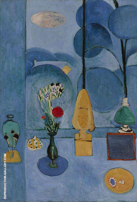 Reproduction of The Blue Window 1913 by Henri Matisse | Oil Painting Replica On CanvasReproduction Gallery