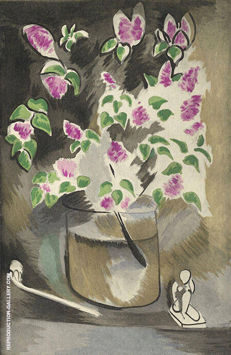 Branch of Lilacs 1914 Painting By Henri Matisse - Reproduction Gallery