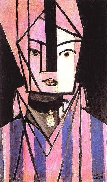 White and Pink Head 1914 By Henri Matisse - Oil Paintings & Art Reproductions - Reproduction Gallery
