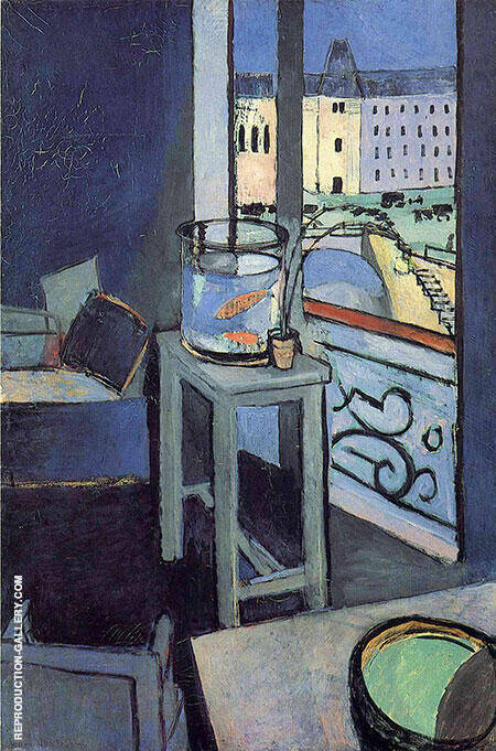Interior with a Goldfish Bowl 1914 Painting By Henri Matisse