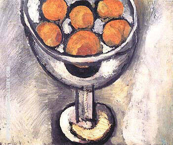 A Vase with Oranges 1916 Painting By Henri Matisse - Reproduction Gallery