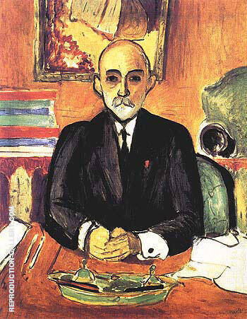 Portrait of Auguste Pellerin I 1916 By Henri Matisse Replica Paintings on Canvas - Reproduction Gallery