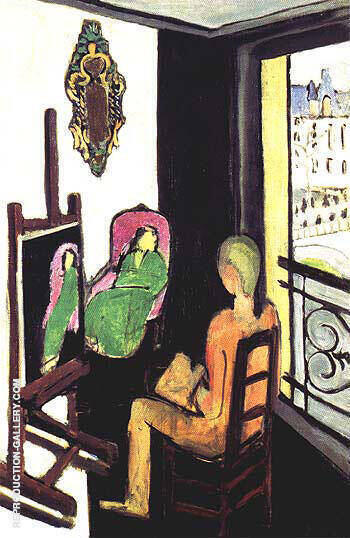 Reproduction of The Painter in His Studio 1916 by Henri Matisse | Oil Painting Replica On CanvasReproduction Gallery