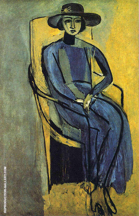 Portrait of Greta Prozor 1916 By Henri Matisse