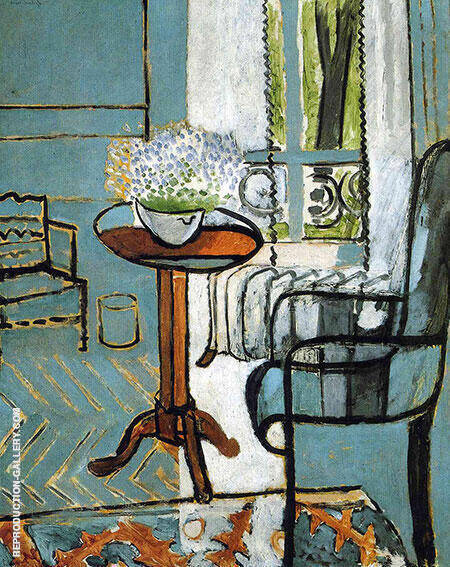 The Window Interior with Forget-Me-Nots 1916 By Henri Matisse Replica Paintings on Canvas - Reproduction Gallery