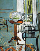 The Window Interior with Forget-Me-Nots 1916 By Henri Matisse
