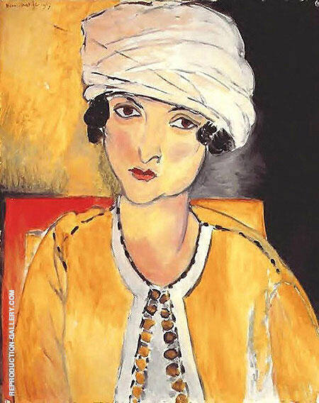 Laurette with Turban Yellow Jacket 1917 By Henri Matisse