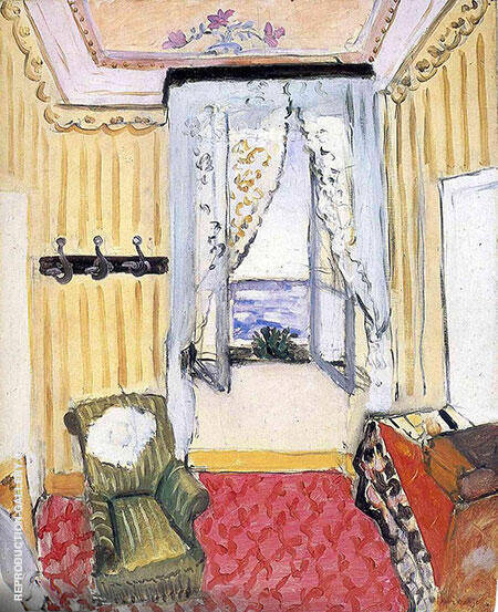 My Room at the Beau Rivage 1917 By Henri Matisse Replica Paintings on Canvas - Reproduction Gallery