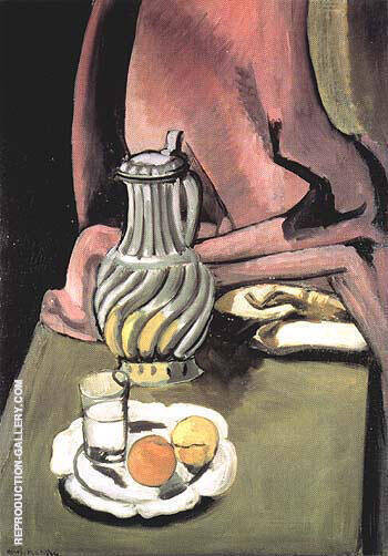 The Pewter Jug 1917 By Henri Matisse - Oil Paintings & Art Reproductions - Reproduction Gallery