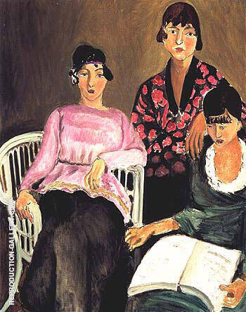 The Three Sisters 1917 Painting By Henri Matisse - Reproduction Gallery