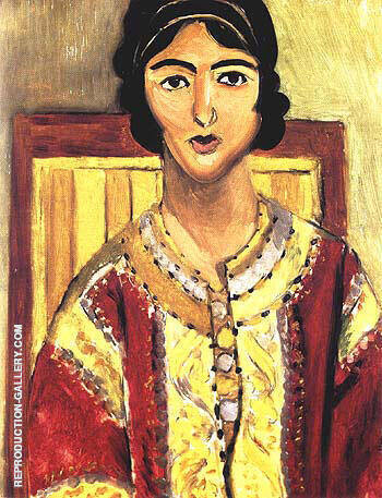 The Red Jacket 1917 By Henri Matisse Replica Paintings on Canvas - Reproduction Gallery