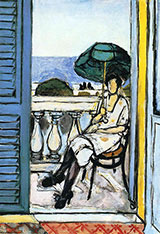Women with a Green Parasol on a Balcony 1918 By Henri Matisse