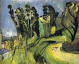Large Landscape Mont Alban 1918 By Henri Matisse